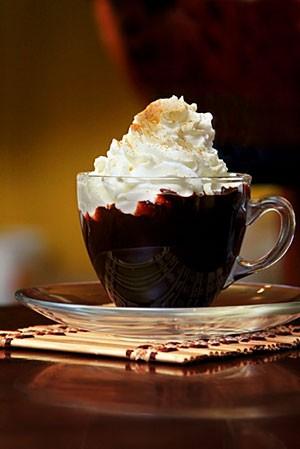 Горячий шоколад с миндалем