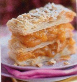 Абрикосовое пирожное с орехами