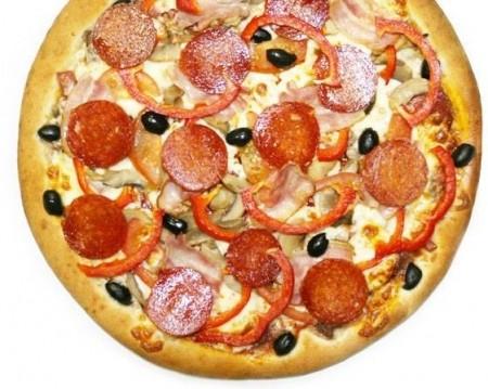 Рецепт пиццы с ветчиной и грибами