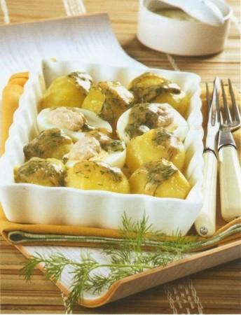 Рецепт картошки с укропным соусом