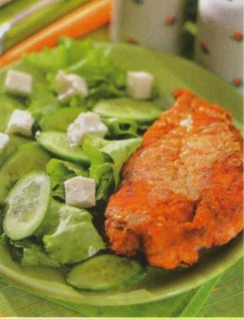 Рецепт куриного филе с салатом