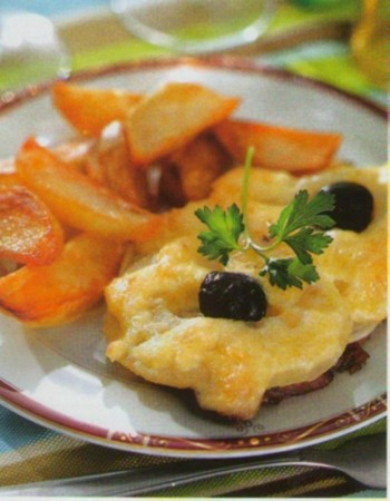 Рецепт телятины с ананасами