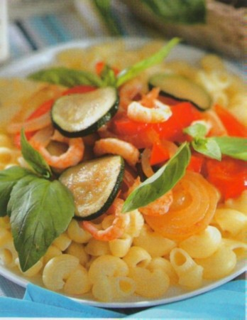 Рецепт макарон под овощами
