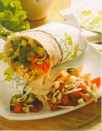 Рецепт лаваша со свежими овощами