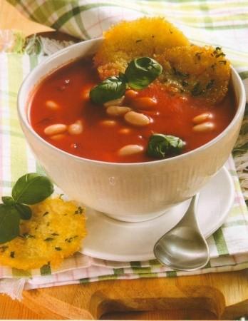 Рецепт фасолевого супа с гренками