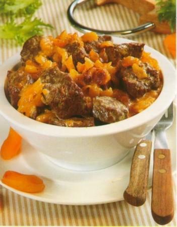 Рецепт мяса с курагой