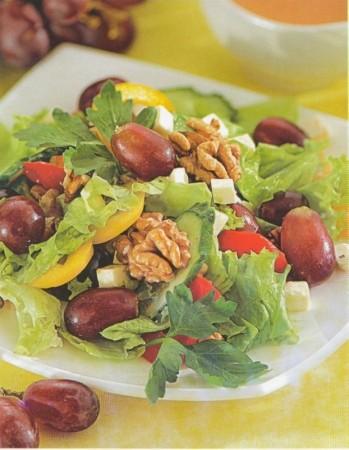 Рецепт салата из перца и винограда