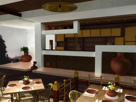 Проект интерьера ресторана