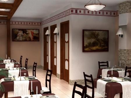 Проект дизайна интерьера ресторана