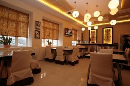 Дизайн интерьер маленького кафе в бизнес центре