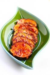 Рецепт жареных в гриле баклажанов с медом